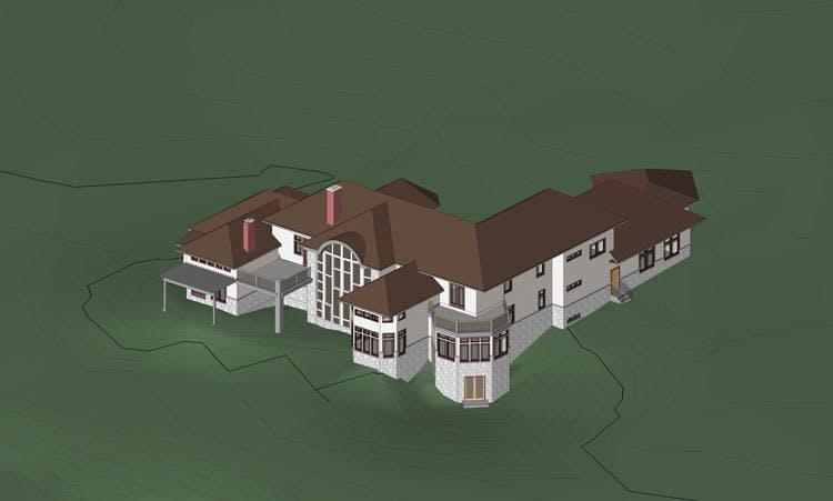 3d House Plan Model Hi Tech Cadd Archinect