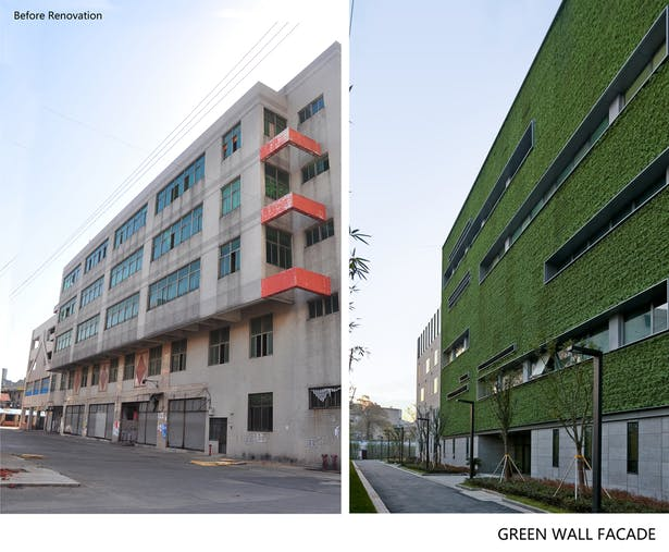 Before-after garden facade