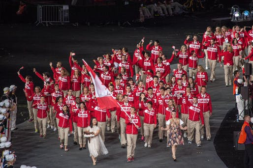 Canada at the London 2012 Olympic Opening Ceremony. Photo via Wikipedia.