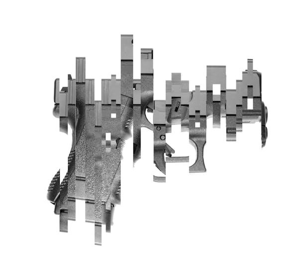 Deconstructed Glock Pistol