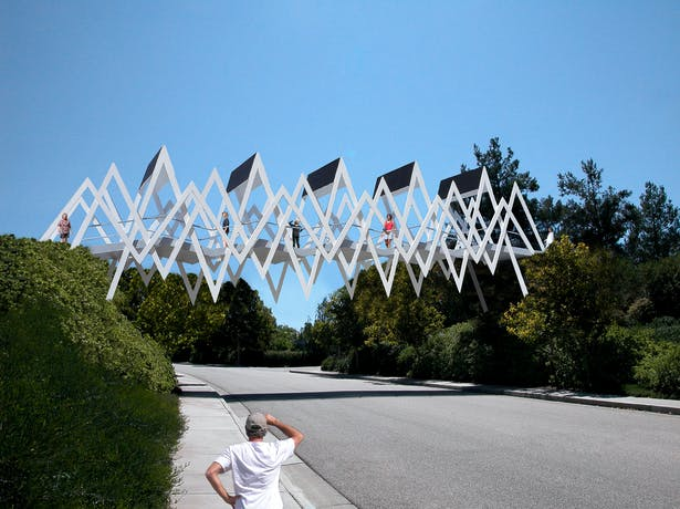 A public functional art structure.