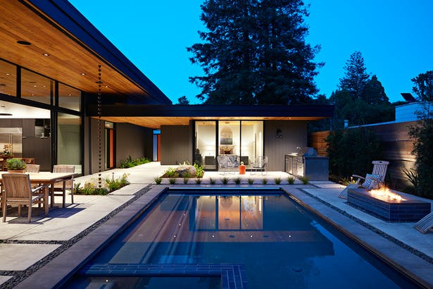 Glass Wall House by Klopf Architecture