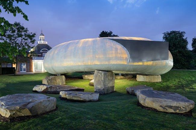 The 2014 Serpentine Pavilion by Smiljan Radic. Photo: Iwan Baan