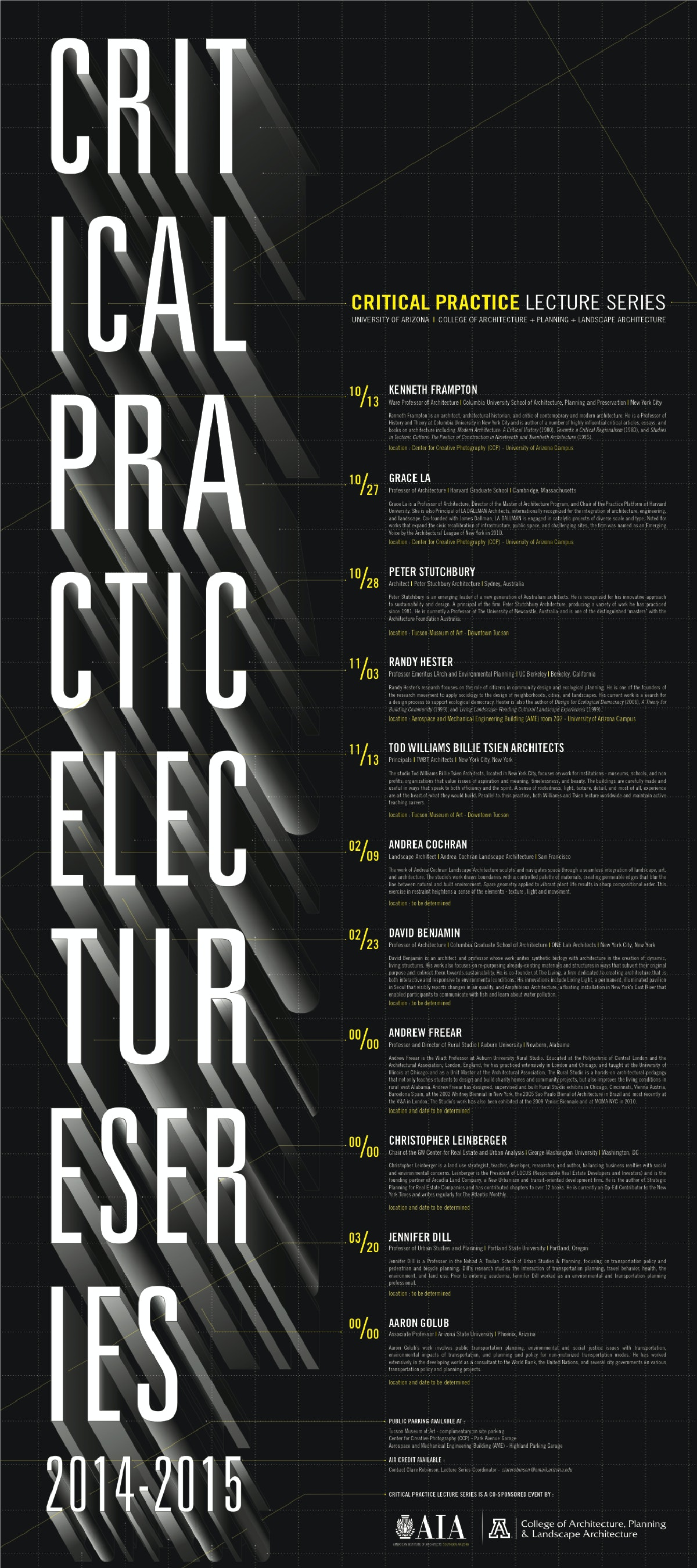 Critical Lecture Series 2014 15 At University Of Arizona College Of  Architecture + Planning +