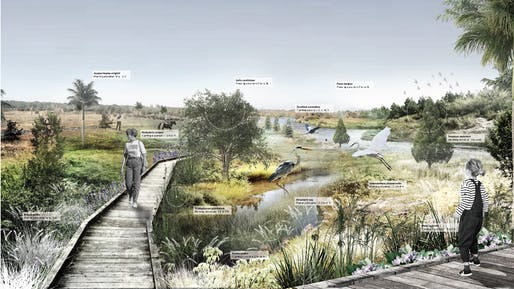 Student Shortlist - Project: The Drainage Filter for the Everglades. Location: Florida, USA. Entrant/Image Credit: Meikang Li, Qiwei Song, Chaoyi Cui – University of Toronto.