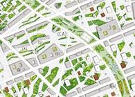 Macro-eco urbanism - XXL - Neighborhood of 10 000 inhabitants - Urban planning 494 Acres, Finocchio Area, Rome, Italy, 2009