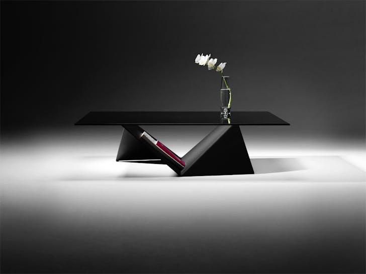 Zero-waste coffee table, photo credit Rodey Evans.