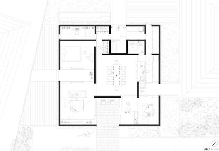 Floor plan (Image: Kazuya Saito Architects)