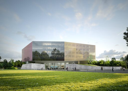 Palais de Justice courthouse in Lille. Image © OMA / ArtefactoryLab