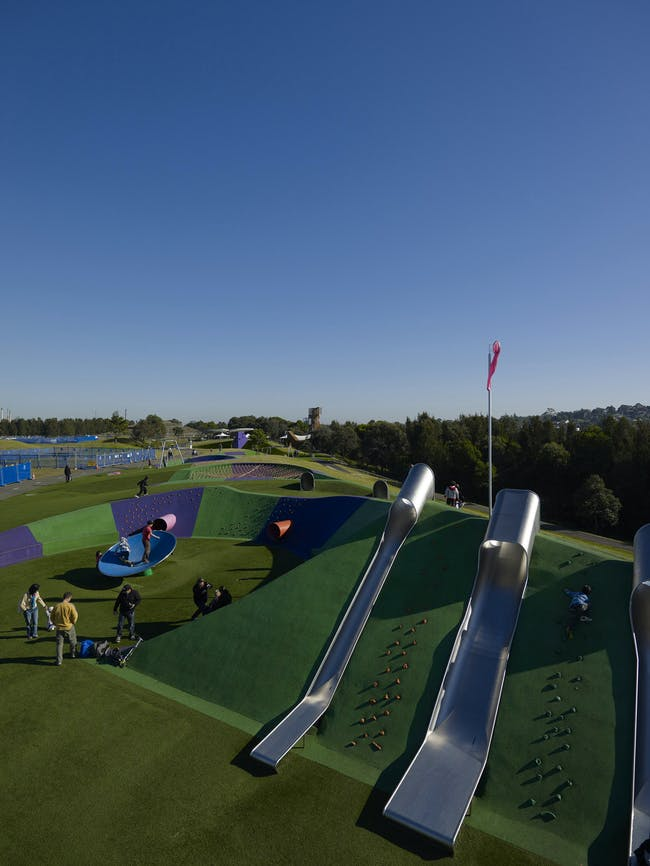 Blaxland Common Playground - Regional Playspace in Homebush, Australia by JMD Design