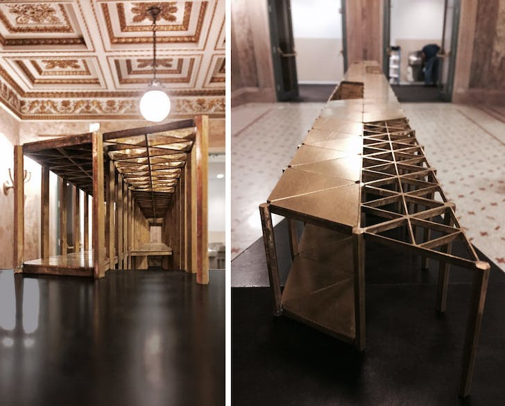 Installation views of Wallderful at the Chicago Cultural Center. Courtesy Dellekamp Arquitectos.