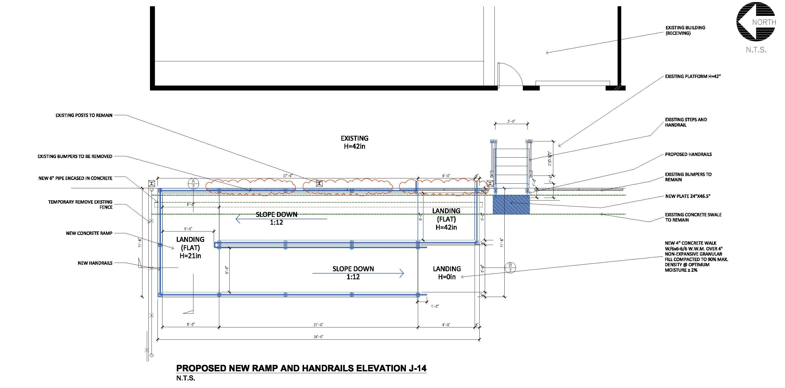 Accessible Concrete Ramp With Handrails Cora Cervantes