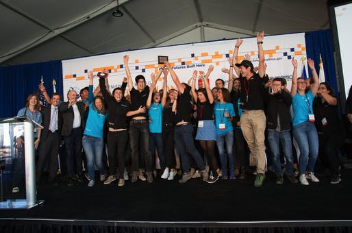 The Swiss Team wins the 2017 Solar Decathlon! Photo Credit: John De La Rosa/U.S. Department of Energy Solar Decathlon.