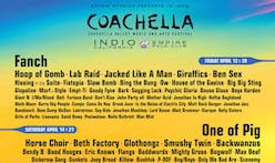 Coachella lineup created by a neural network generates new designers