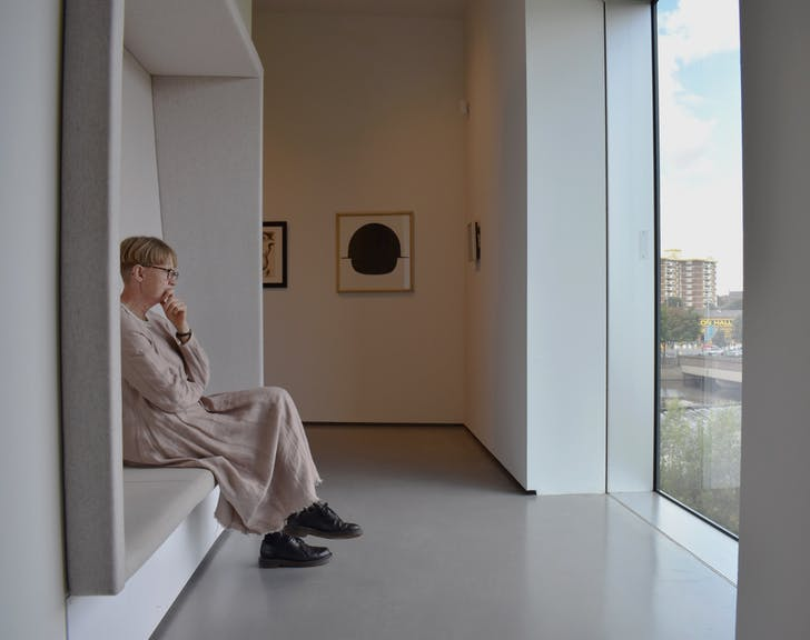 Installation shot from masterpieces: Barbara Hepworth and Henry Moore at The Hepworth Wakefield.