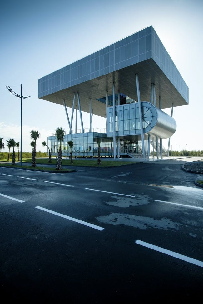 Lazika Municipality in Lazika, Georgia by Architects of Invention (Photo: NakaniMamasakhlisi Photo Lab)