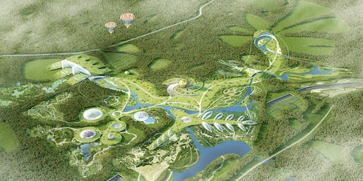 Bird's eye view of HOSPER's Park Russia proposal. Image courtesy of HOSPER.