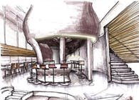 RESTAURANT DESIGN - SCHOOL PROJECT -