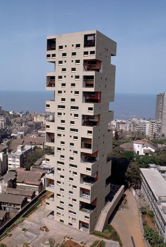 Kanchanjunga Apartment tower in Mumbai, via dome.mit.edu.