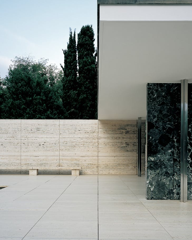 The Barcelona Pavilion in its original form. Photo by Pepo Segura