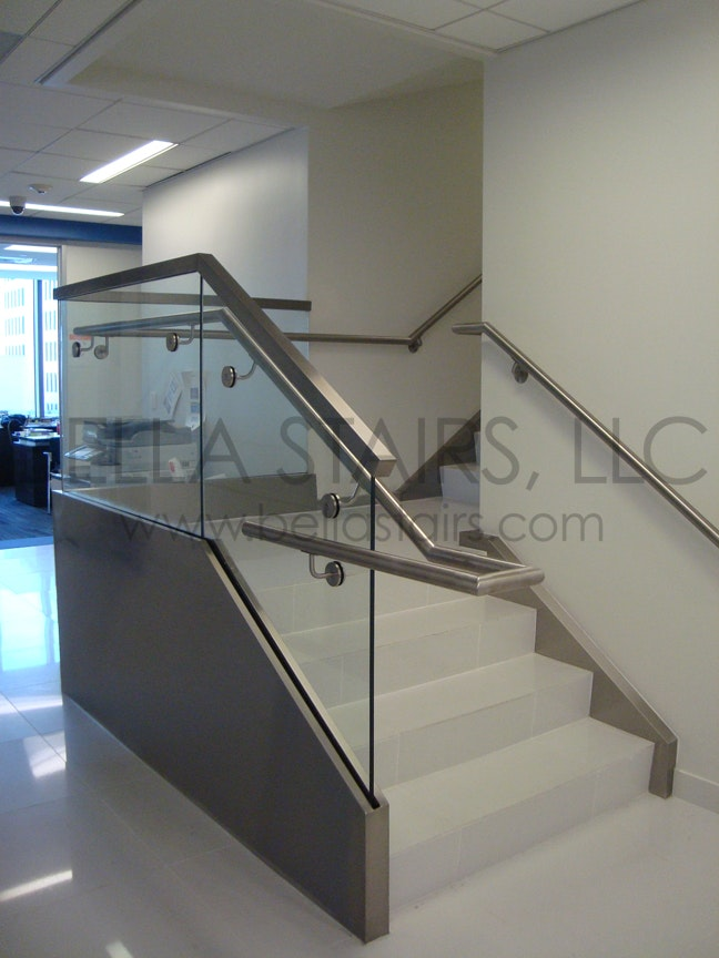 Glass Railings Were Installed Using A Top Mounted Base Shoe.