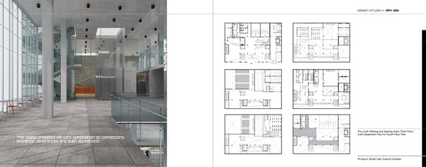 Design Page II- Floor Plans & Waiting and Seating Area (Third Floor)