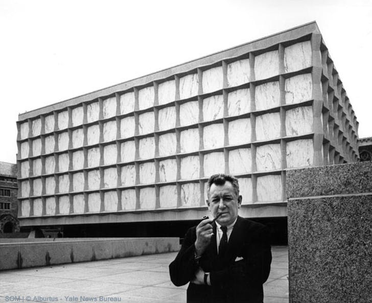 Gordon Bunshaft/ SOM: Beinecke Rare Books Library at Yale