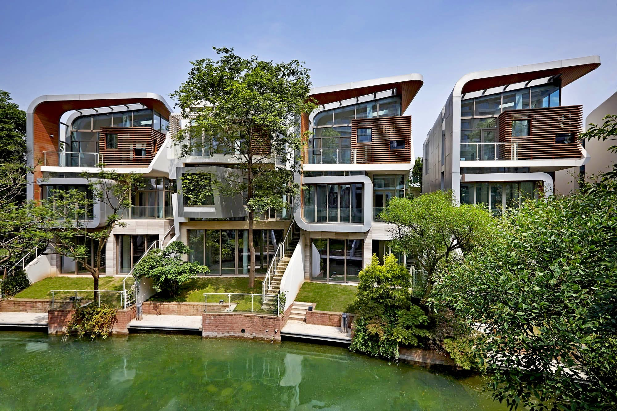 Amazing Peace Creek Villas By JFAK, Located In Chengdu, CN. Image: JFAK.