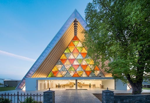 Cardboard Cathedral in Christchurch, NZ by Shigeru Ban Architects. Photo: Stephen Goodenough