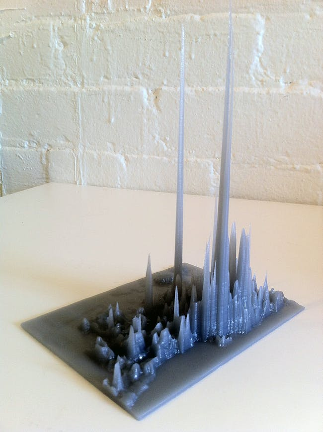 """3D printing done by """"Draft Print 3D"""" Toronto-based company"""