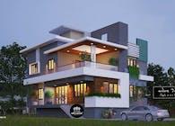 Mẫu thiết kế biệt thự hiện đại 2 tầng 2 mặt tiền tại Phước Long