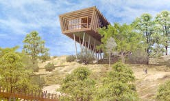 2020 USC Architectural Guild Charrette first place winners design a movable building surrounded by landscape that fights wildfires