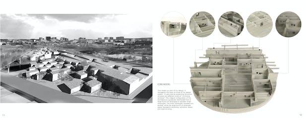 exterior perspective & core model