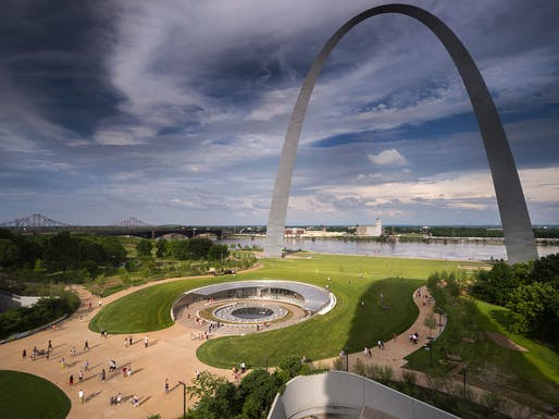 The new Gateway Arch Museum in St. Louis. Photo courtesy of Cooper Robertson.