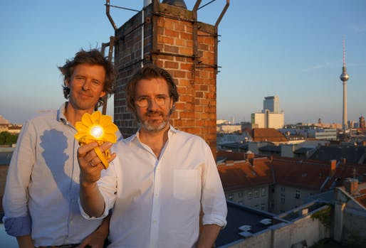 Little Sun founders Frederik Ottesen and Olafur Eliasson. Photo courtesy Little Sun.