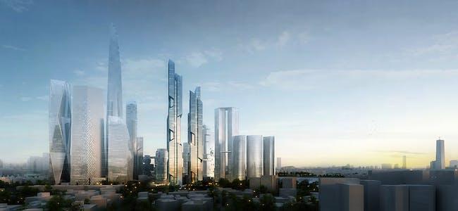 Overall view, north (Image: Adrian Smith + Gordon Gill Architecture)