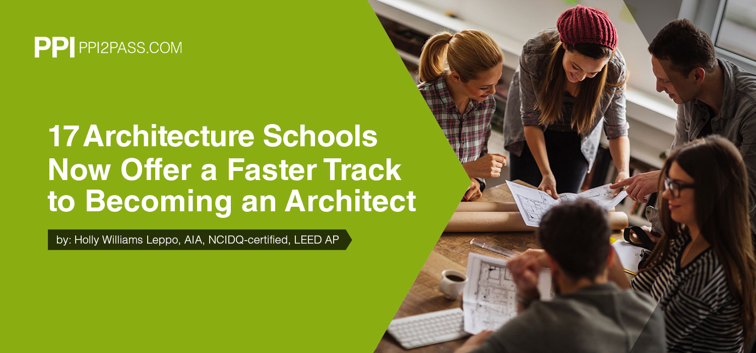 17 Architecture Schools now offer a faster track to becoming an