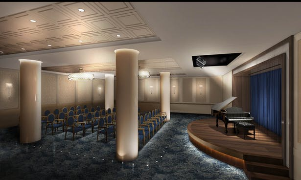 Rendering of the Auditorium Stage and seating