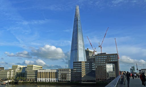 The Shard, at 310 m (1,017 ft) Western Europe's tallest building, in London. Photo: Dun.can/Flickr