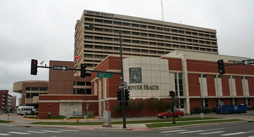 View of Denver Health Medical Center, where an abandoned building is being converted to senior housing. Image courtesy of Flickr user Jeffrey Beall.