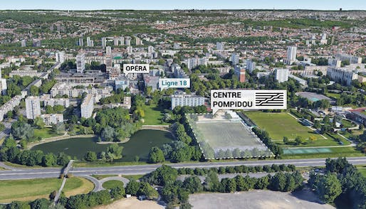 Photo showing the future site of the forthcoming Pompidou Center expansion. Image courtesy of Centre Pompidou.