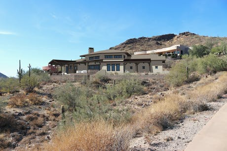 Wrapping up the design of a custom residence in Fountain Hills, AZ