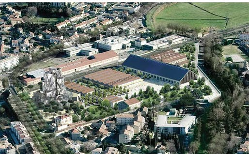 An aerial view of the future Luma Arles. Photo: Gehry Partners, LLP