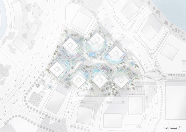 Site plan of Makers District. Image © MVRDV.