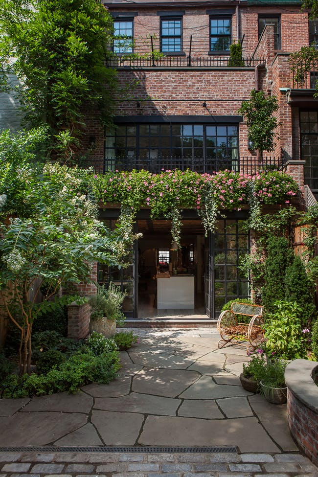 Manhattan Townhouse in New York, NY by Susan Wisniewski Landscape, LLC in collaboration with BWArchitects