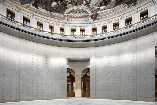 The grand rotunda inside the soon-to-open Bourse de Commerce — Pinault Collection in Paris. Photo: Patrick Tourneboeuf.
