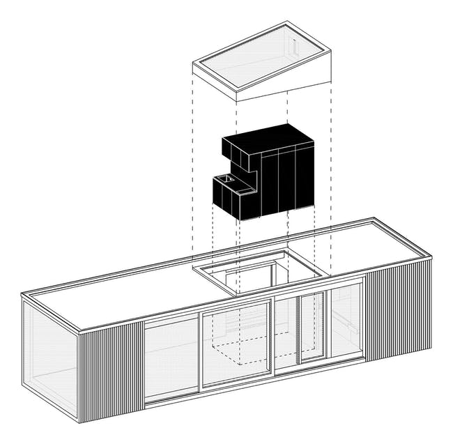 Axonometric. Image: Ark Shelter Studio.