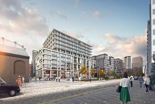 The new P2 building by Allford Hall Monaghan Morris (AHMM). Image: King's Cross.