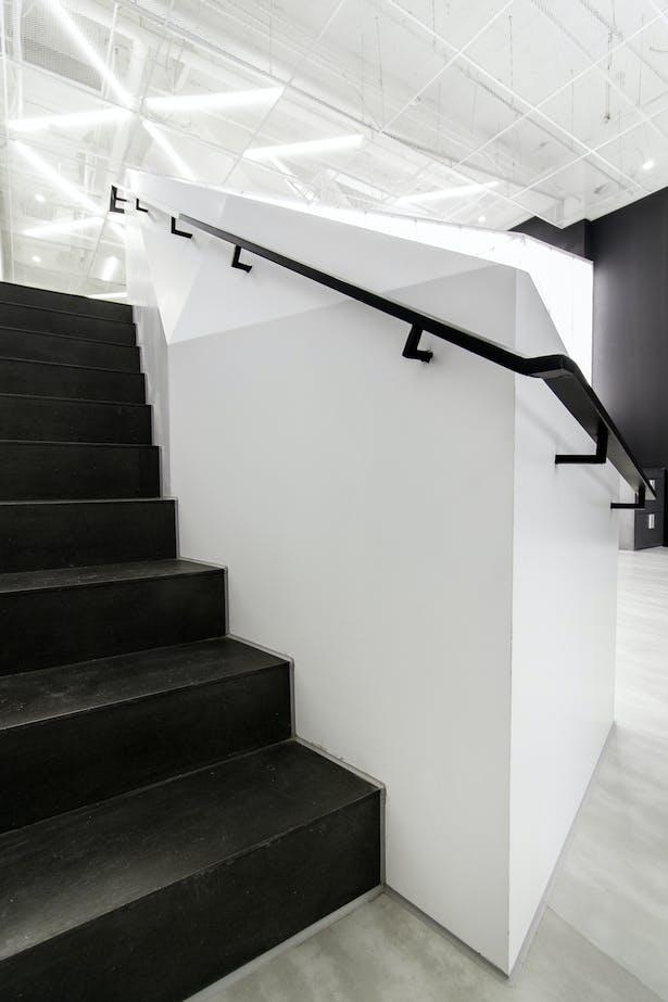 Staircase corner detail