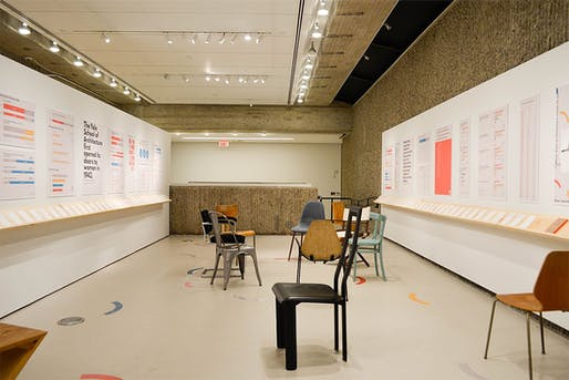 """A Seat at the Table"" at the Yale School of Architecture. Photo: Kay Yang, via Curbed."